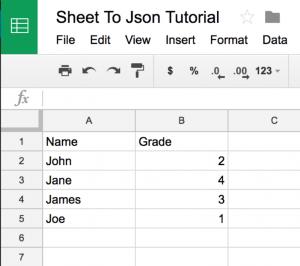 How to use a Google spreadsheet as a JSON data source – Umajin Developer